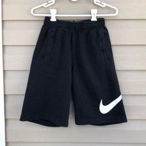 Nike boys black knit pull on shorts